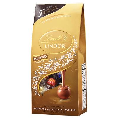 美国进口 瑞士莲进口巧克力球lindor精选软心混合600g零食