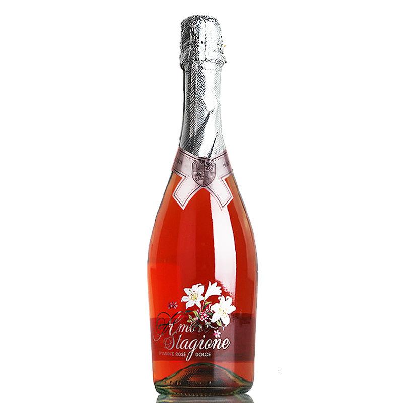 意大利原瓶进口红酒 恋爱季甜桃红起泡葡萄酒 原装进口起泡酒750ml