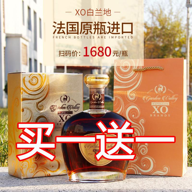 买一送一法国波尔多XO 原瓶原装进口洋酒花园谷·拿破仑 XO 白兰地533