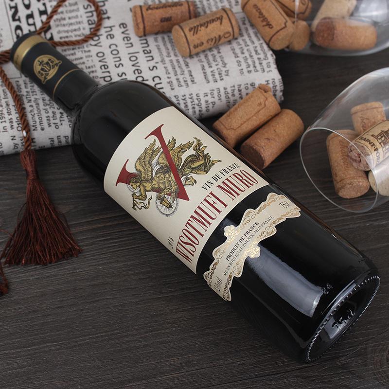 法国原瓶进口 13度 威珞特菲-穆罗干红葡萄酒 波尔多瓶