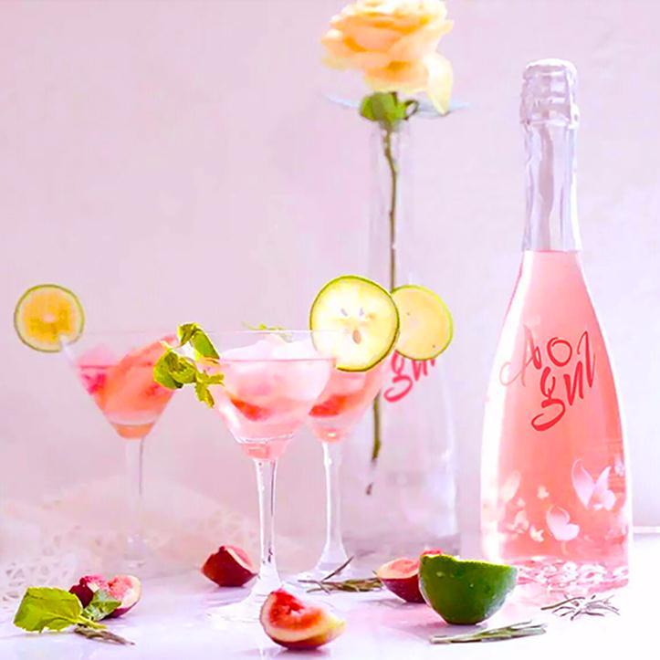 西班牙朵玛桃红起泡酒750ml 玫瑰葡萄甜酒原酒进口国内灌装