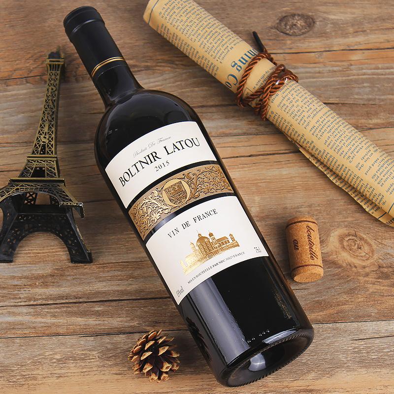 法国原瓶进口 13度 布勒塔尼拉图-嘉德纳干红葡萄酒