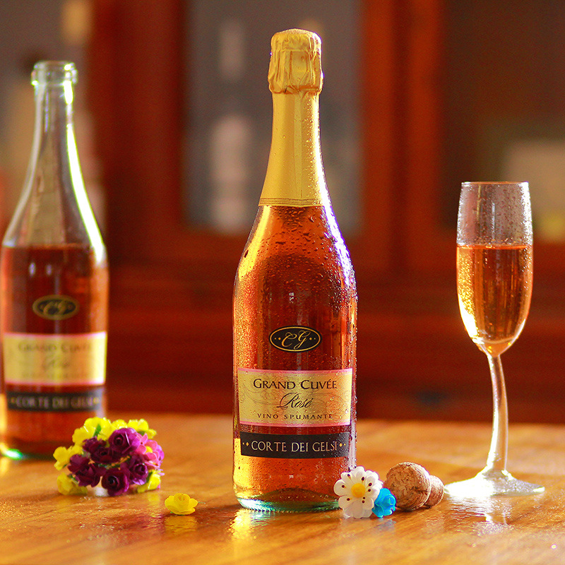 意大利原瓶进口葡萄酒意帝玫瑰红甜起泡酒750ML酒批发