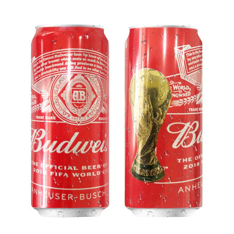 英国原装百威啤酒500ml*24听装 酒吧餐厅百威啤酒批发