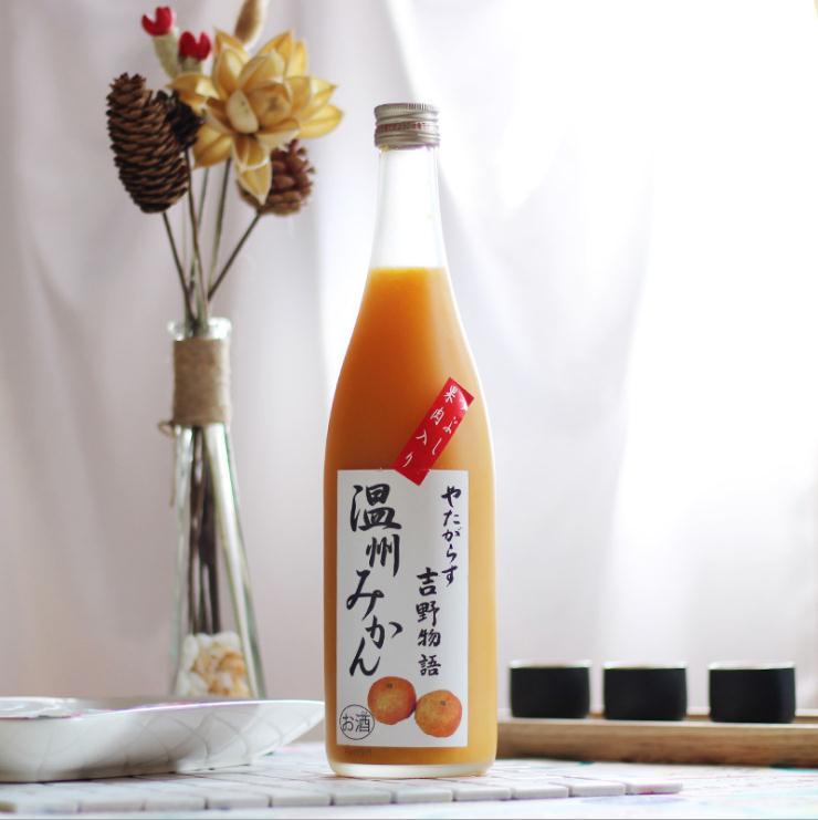日本进口蜜桔味水果酒 吉野物语女士低度甜酒720ml高颜值少女心酒