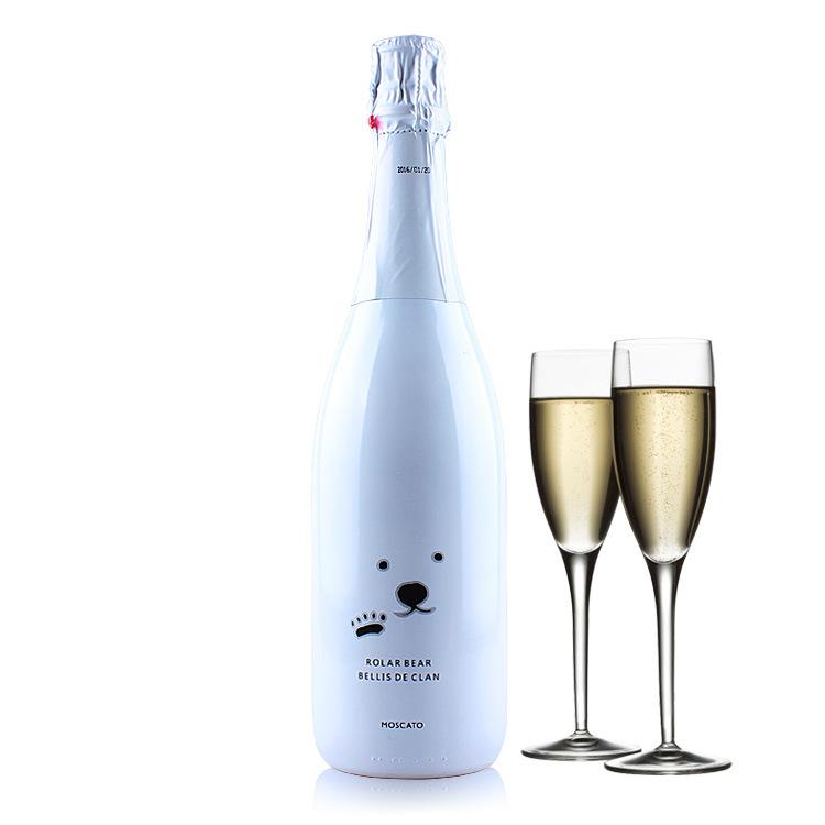 法国贝丽斯北极熊气泡甜女士低度起泡葡萄酒750ml