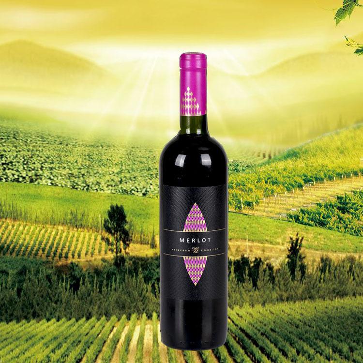 保加利亚原装进口鹿赛梅洛珍藏干红葡萄酒餐酒送礼泡洋葱好红酒
