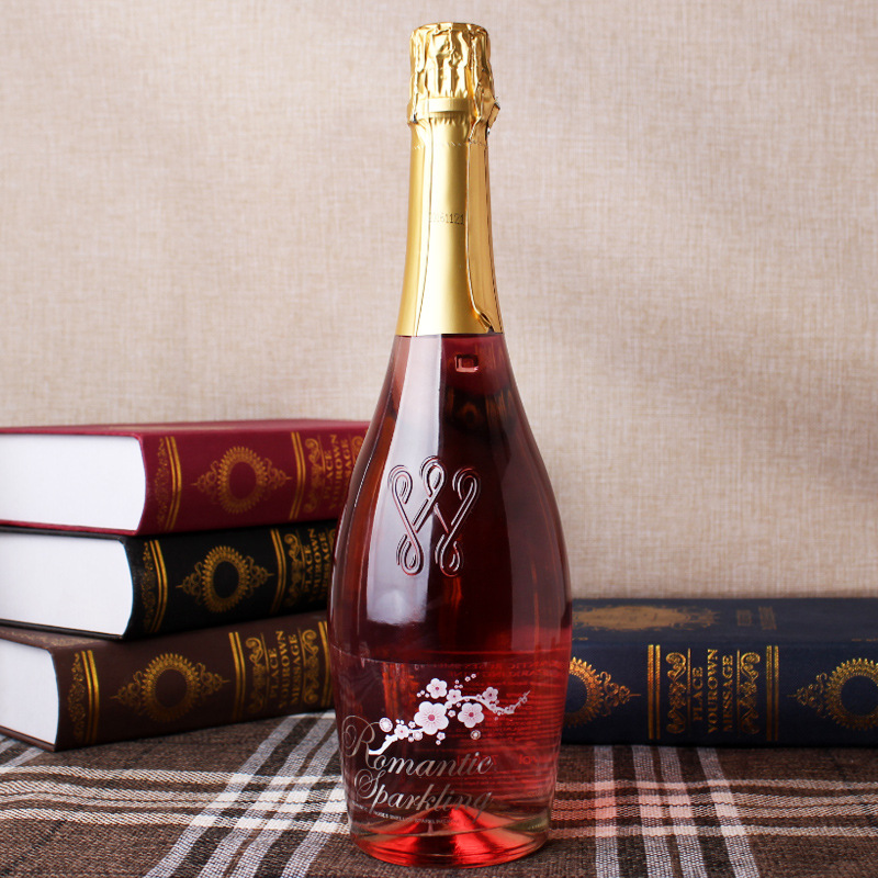 法国原酒进口甜红酒 4.5度甜型起泡酒 玫瑰花味荔枝味750ml 批发