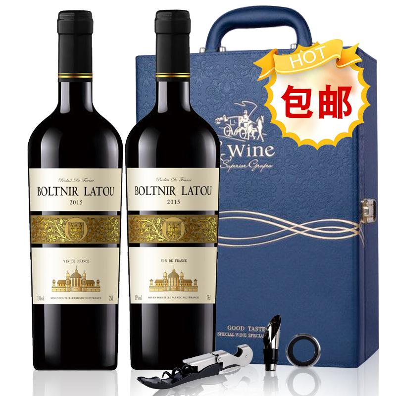 168法国原瓶进口  布勒塔尼拉图嘉纳德干红葡萄酒  两瓶礼盒装·VDF级·13%vol  原价;898元/瓶,特价;138元/瓶