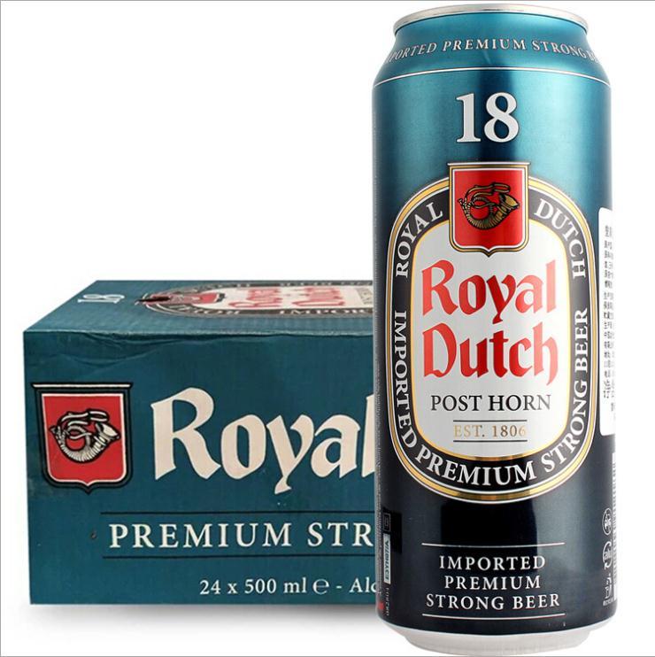 法国原装进口 皇家金骑士18度烈性啤酒500ml*24听装批发