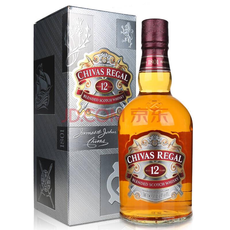洋酒英国进口芝华士12年苏格兰威士忌 CHIVAS REGAL700ml 带盒
