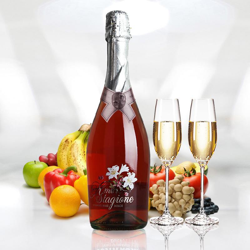 意大利原瓶起泡酒进口甜红葡萄酒女士酒 750ml甜葡萄酒水果酒批发