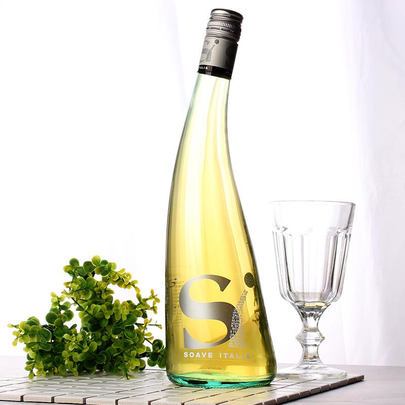 意大利原装进口 歪脖瓶苏阿韦干白葡萄酒750ml高颜值女性酒