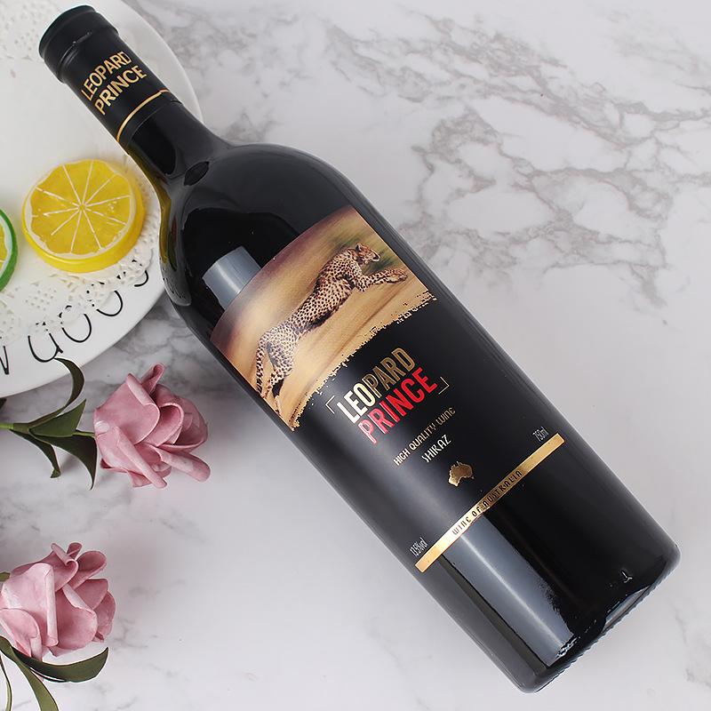 澳大利亚原瓶进口13.5度 骏豹王子飞豹西拉干红葡萄酒 宽肩重瓶