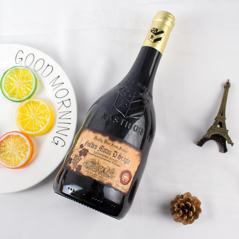 法国原瓶进口 金穆桐仕佳澳德干红葡萄酒 13度 AOP级 异型瓶 扫码价:1088元/瓶(两瓶起售)